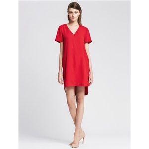 BANANA REPUBLIC red v-neck dress